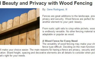 THREE GREAT WOOD FENCE OPTIONS FROM A TRUSTED GREELEY FENCE COMPANY