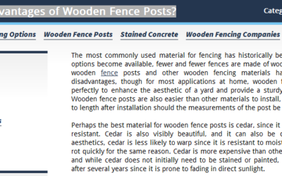 FENCE COMPANIES IN DENVER WORK WITH CEDAR AND OTHER WOOD-BASED MATERIALS