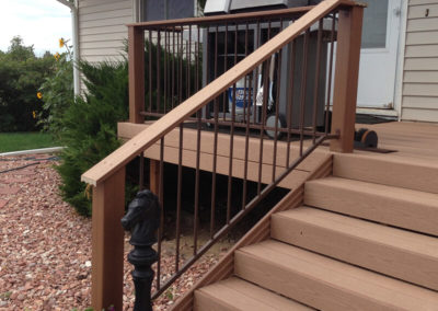 trex decking install by altitude fence and deck