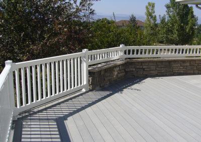 vinyl porch fencing on deck
