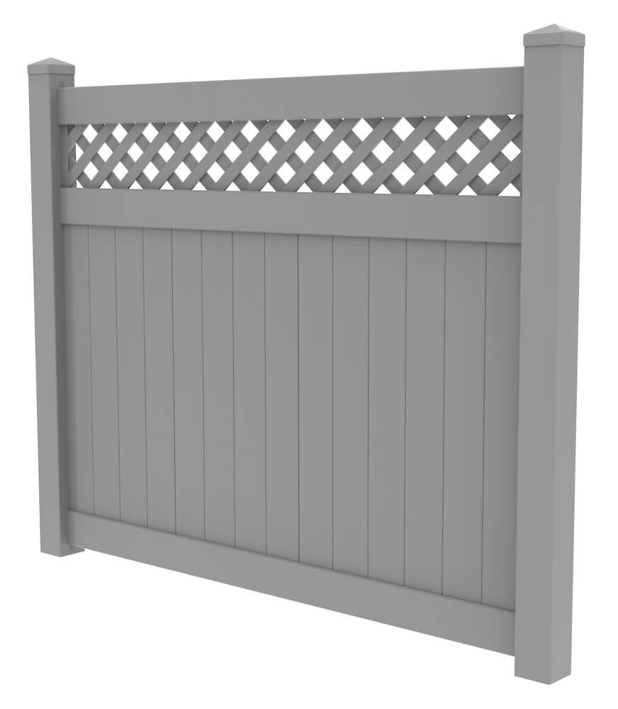 Lattice-top vinyl privacy fence