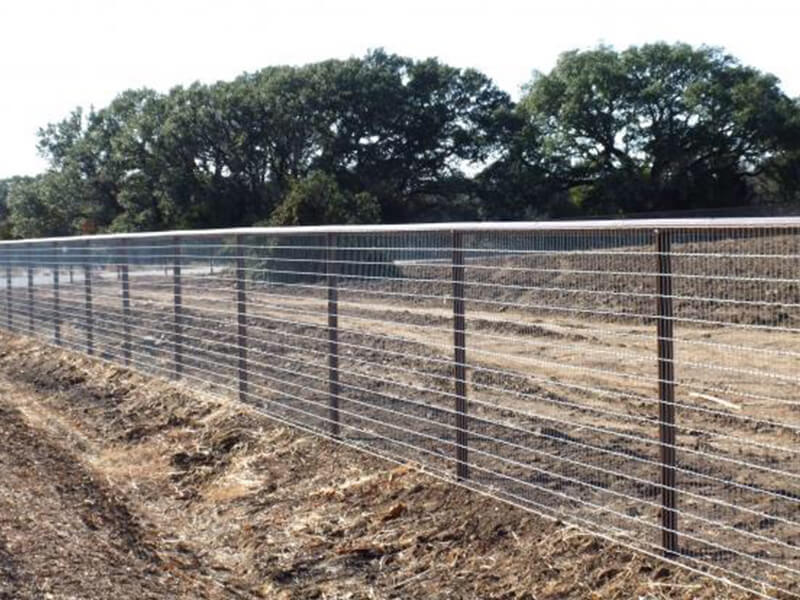 Livestock fence installation metal barbed wire tensile