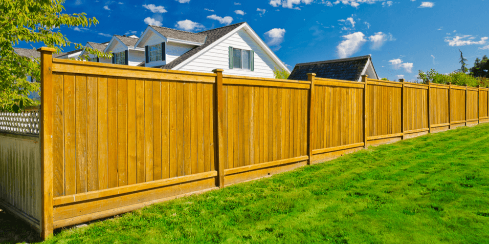 wooden residential fence
